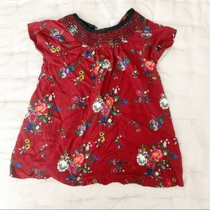 Hanna Andersson floral dress red 6-12 months